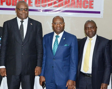 President, Institute of Chartered Secretaries and Administrators of Nigeria (ICSAN)  Dr. Nat Ofo; Managing Director/Chief Executive Officer, Heritage Bank and Chairman of Occasion,  Mr. Ifie Sekibo; Director, Consumer Protection Unit, Nigerian Civil Aviation Authority (NCAA), Alhaji Adamu Abullahi and Compliance Officer, Securities & Exchange Commission (SEC), Mrs. Yewande Soda
