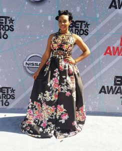 Yemi Alade on the red carpet of BET Awards 2016