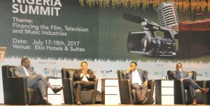 L-R: Tilewa Adebajo, CEO of The CFG Advisory; Jeff Kalligheri, TV/Film Producer; Dike Dimiri, Ag. Chief Risk Officer, Heritage Bank and Hafeez Giwa, Managing Partner, HC Capital Properties, at a two-day Creative Nigeria Summit held in Lagos recently with the theme: Financing the Film, Television and Music Industries; which was co-sponsored by the Bank.
